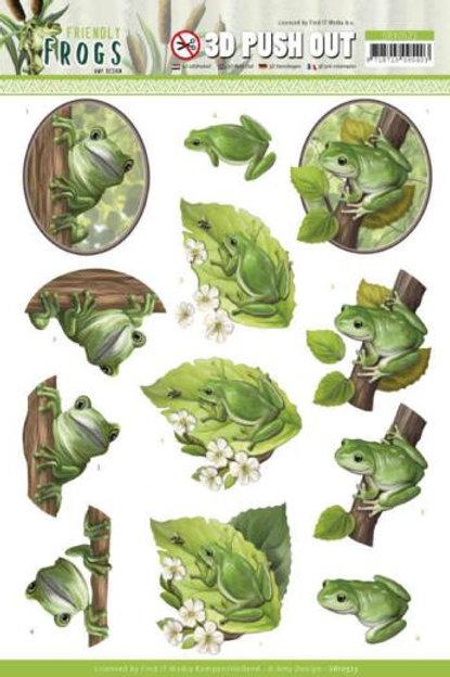 Friendly Frogs  - Die Cut Decoupage Sheet