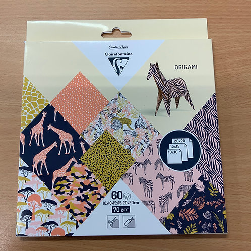 Safari Origami 60 sheets - Mixed Sizes