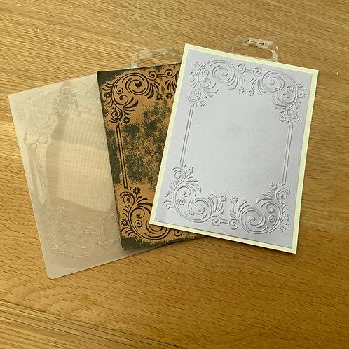Embossing folder -A6 -Flowers