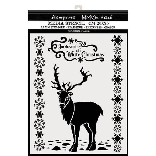 Media Stencil - Winter Magic - 20cm x 25cm