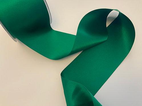 Hunter Green - 70mm - Double Satin Ribbon