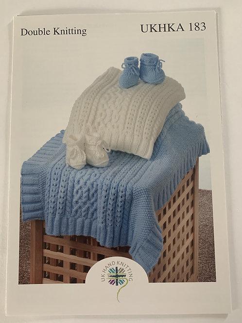 DK Baby Blanket & Bootees Pattern