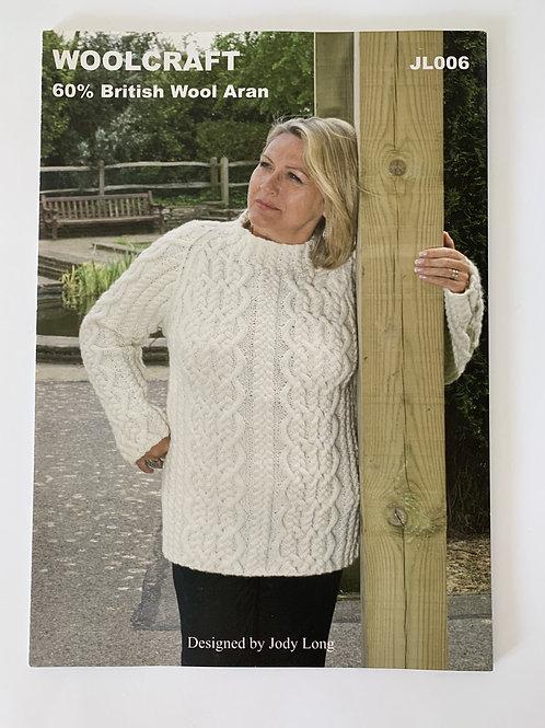 Aran Ladies Sweater Pattern