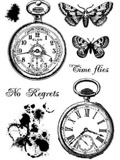 Clear stamp - Vintage Pocket Watches