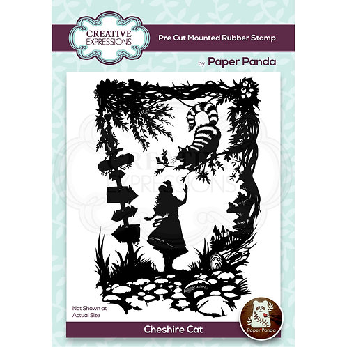 Paper Panda - Cheshire Cat  - Rubber Mounted Stamp