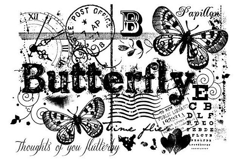 Butterfly Background - Clear Stamp