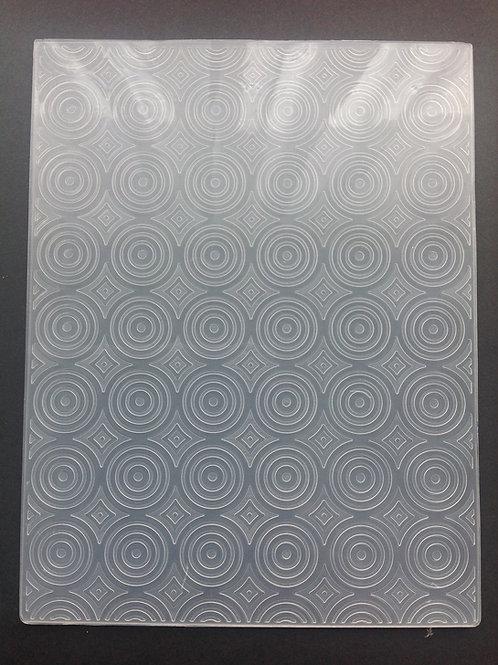 Circle Illusion Embossing Folder