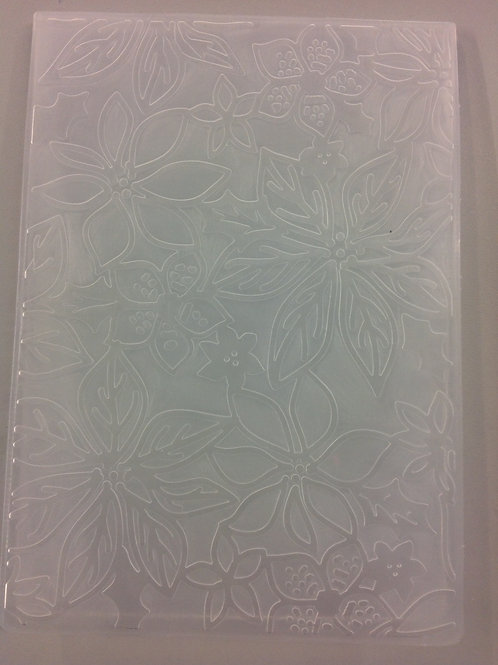 poinsettia embossing folder