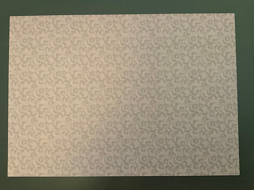 A4 Card- SALE - Brown  -Small Flourish