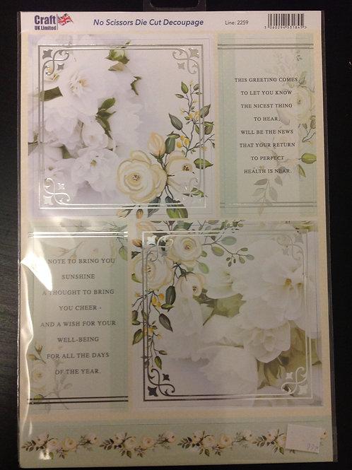 Die Cut A4 Sheet - sympathy verses