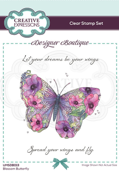 Designer Boutique - Clear Stamps - A6 - Blossom Butterfly