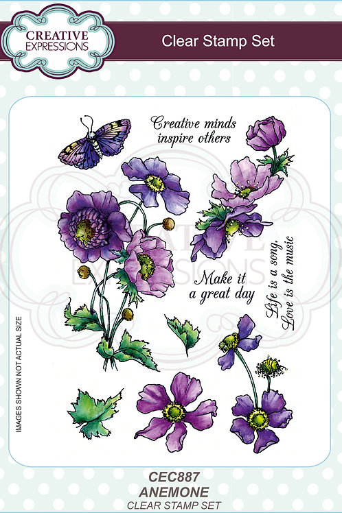Anemone A5 Clear Stamp Set