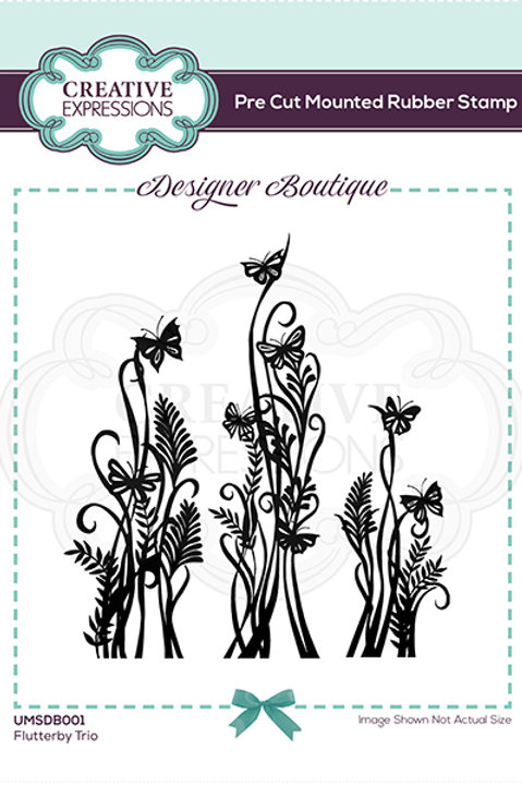 Flutterby Dance - Mounted Rubber Stamp