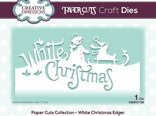 White Christmas - Paper Cuts Edger