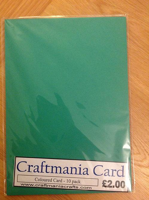 270gsm card pack- 10 sheets - Dark green