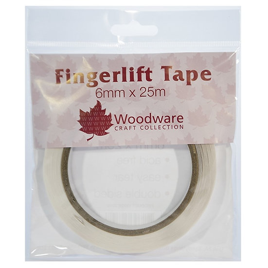 6mm Fingerlift Double Sided Tape x25m - Woodware