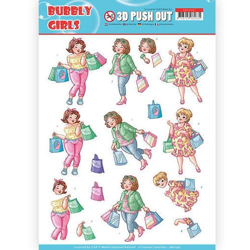 Bubbly girls - Die Cut Decoupage Sheet