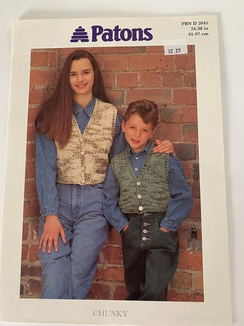 Chunky Children's Waistcoat Pattern
