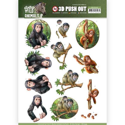 Wild Animals -  Die Cut Decoupage Sheet - A4