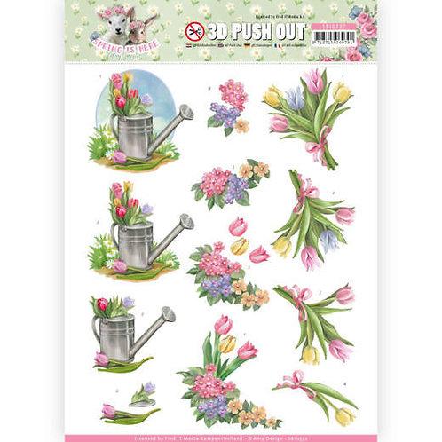 Flower - Die Cut Decoupage Sheet
