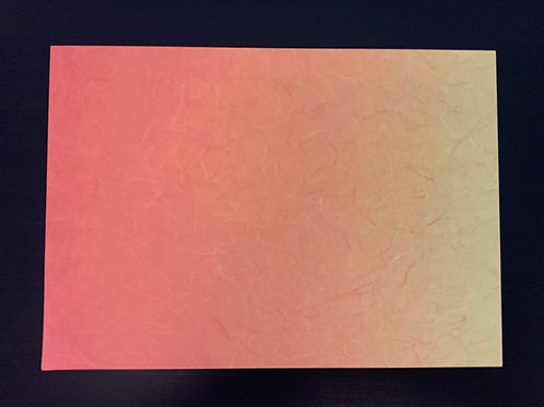 A4 Card- SALE - Orange Rainbow