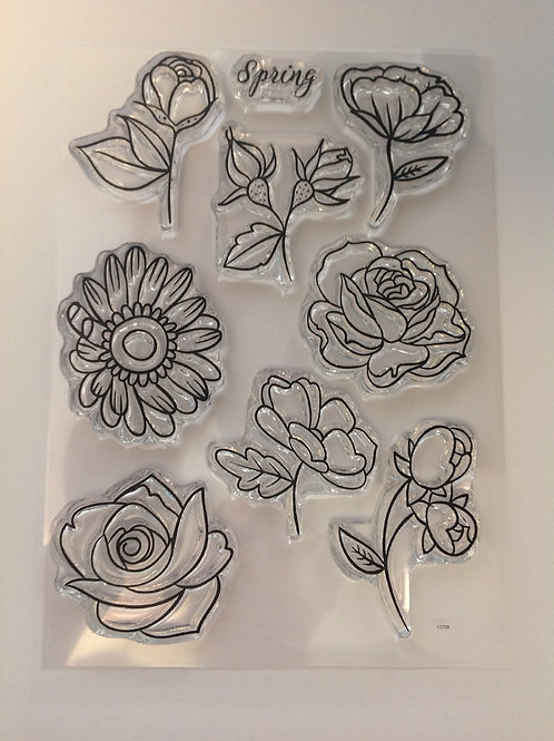 Clear Stamps -  Spring flowers