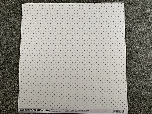 12 X 12 - Craft Creations - Polka Dots