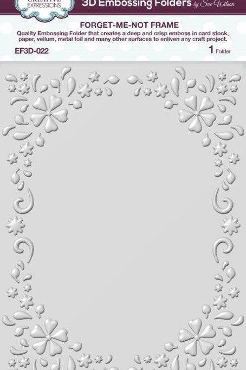 Forget Me Knot Frame - 3D Embossing Folder