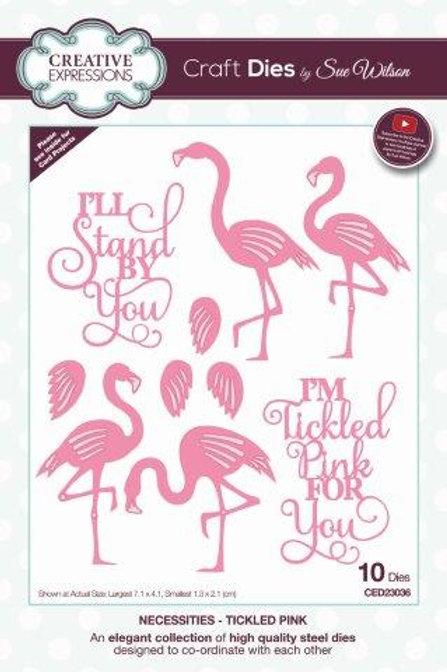 Sue Wilson - Flamingos - Tickled Pink
