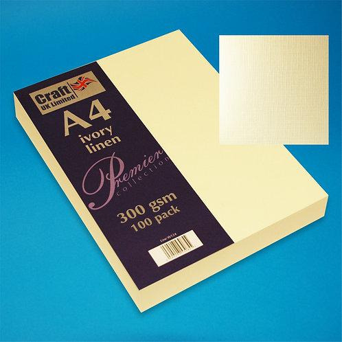 Ivory Linen Card - 100pk