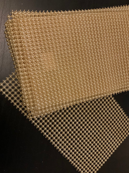 Pearl Mesh Sheet - Gold