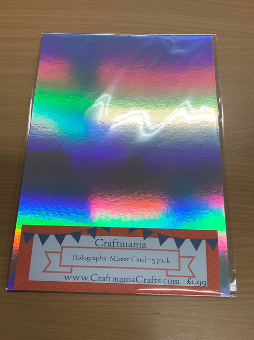 A4 - Holographic Mirror Card - 5pk