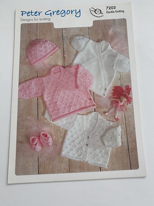 Baby DK Cardigan, Hat & Slippers Pattern