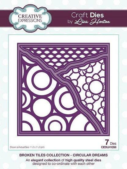 Circular Dreams - Broken Tile - Lisa Horton - Craft Die