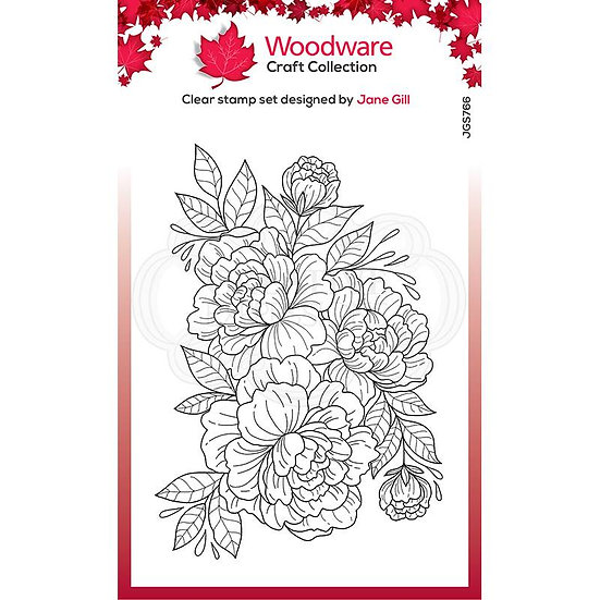 Camellia - Clear Stamp -  Woodware