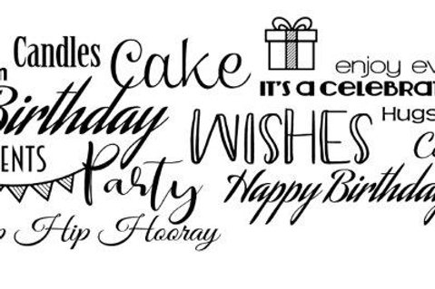 Happy Birthday Background - Clear Stamp