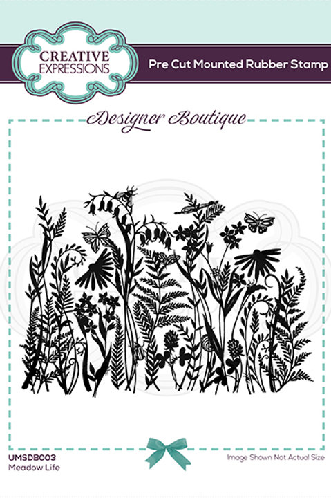 Meadow life - Mounted Rubber Stamp
