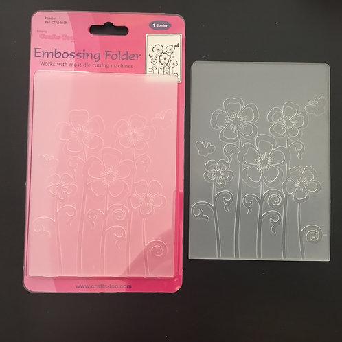 SALE - Embossing Folder - Flowers