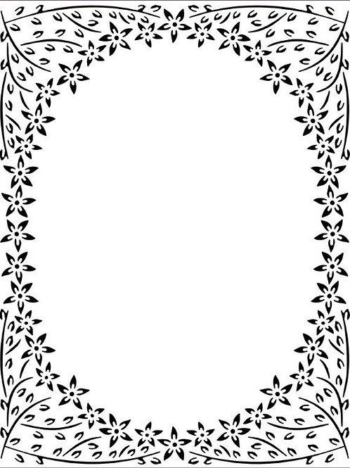 Jasmine Frame Embossing Folder