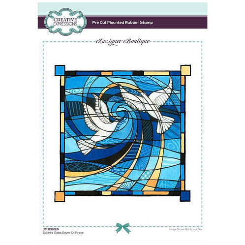 Designer Boutique -Doves Of Peace - Rubber Mounted Stamp