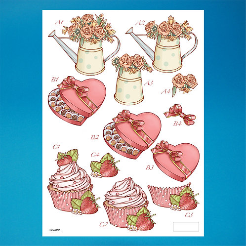 Romance Diecut - A4 Sheet