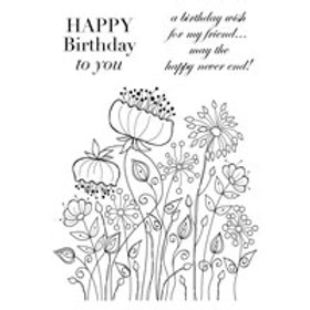 Flowers - Clear Stamp