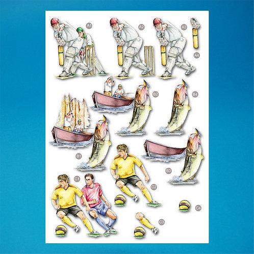 Sports Diecut - A4 Sheet