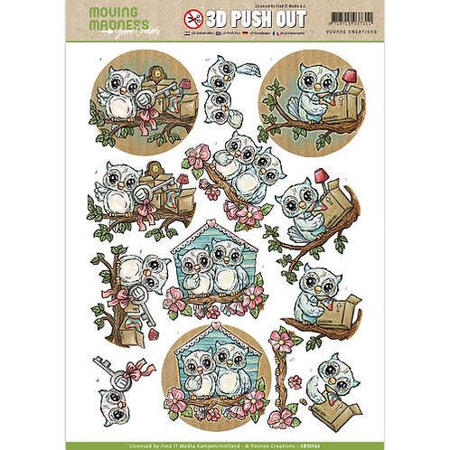 New Home - Owls - Die Cut Decoupage Sheet