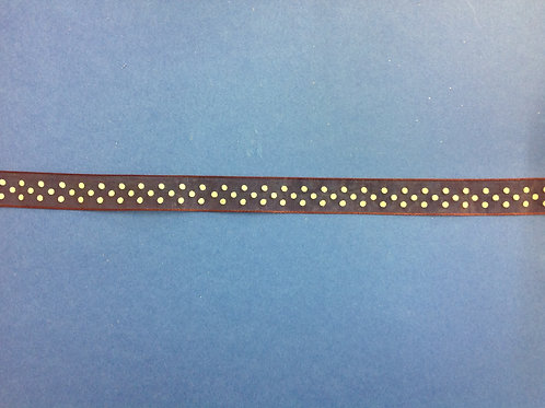 Sheer - Brown with White Dots - 10mm