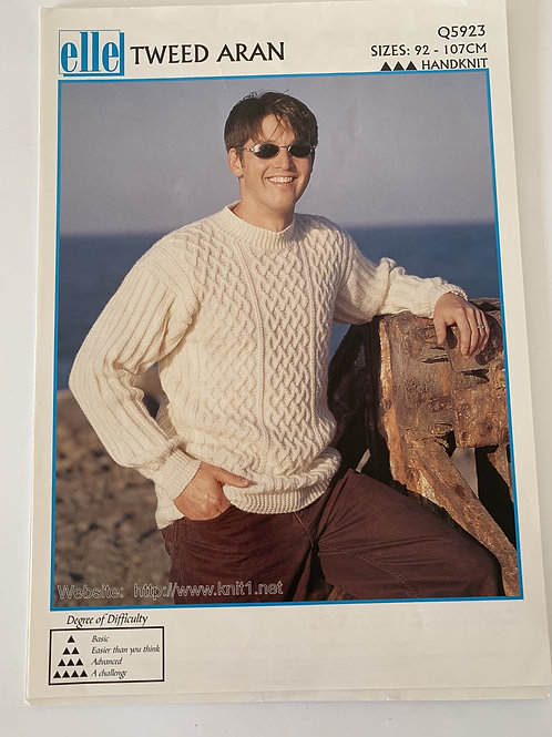 Aran Mens Sweater Pattern