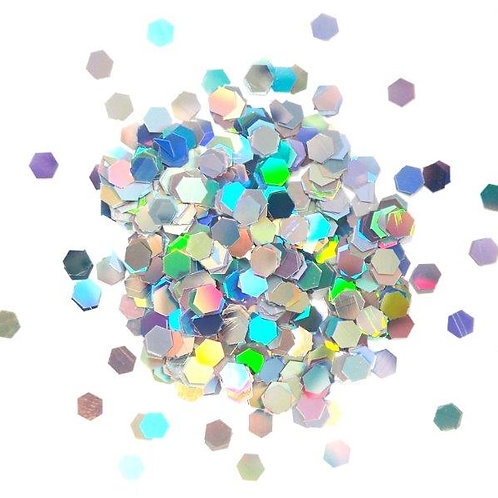Holographic Hexagons - Glitter Jewels