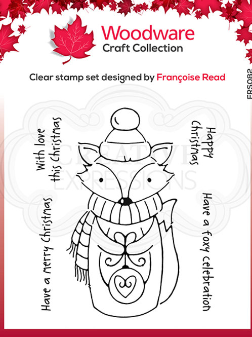 Woodware - Clear Stamp - Foxy Christmas