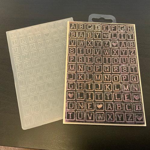 A6 Embossing Folder- letter tiles