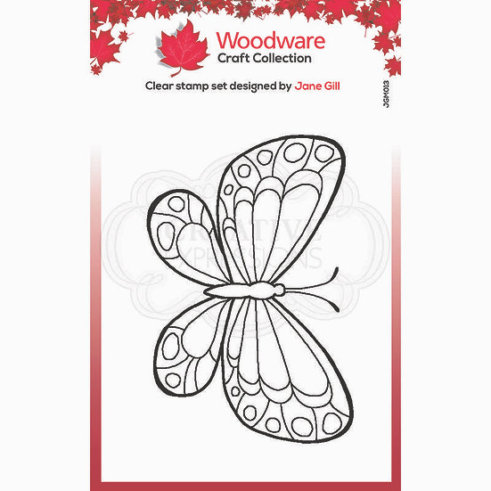 Marbled White Butterfly  - Clear Stamp -  Woodware